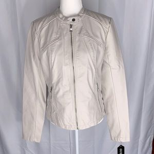 Guess Faux Leather Jacket Size Large